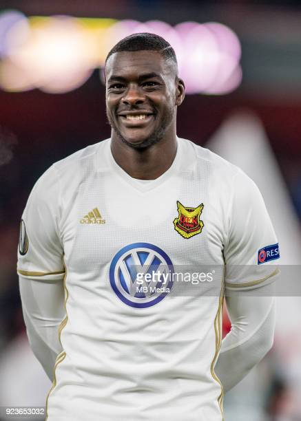 Ken Sema of Ostersunds FK during UEFA Europa League Round of 32 match between Arsenal and Ostersunds FK at the Emirates Stadium on February 22 2018...