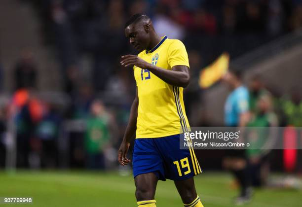 Ken Sema of Sweden during the International Friendly match between Sweden and Chile at Friends arena on March 24 2018 in Solna Sweden