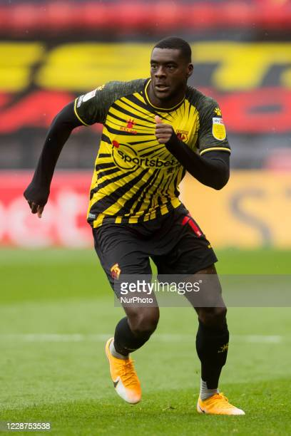Ken Sema of Watford during the Sky Bet Championship match between Watford and Luton Town at Vicarage Road Watford England on September 26 2020