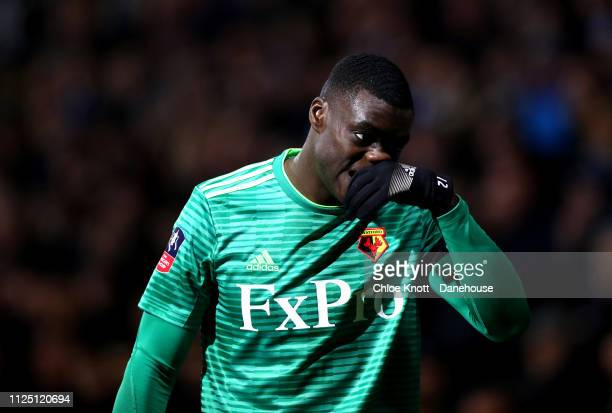 Ken Sema of Watford FC during the FA Cup Fifth Round match between Queens Park Rangers and Watford FC at Loftus Road on February 15 2019 in London...
