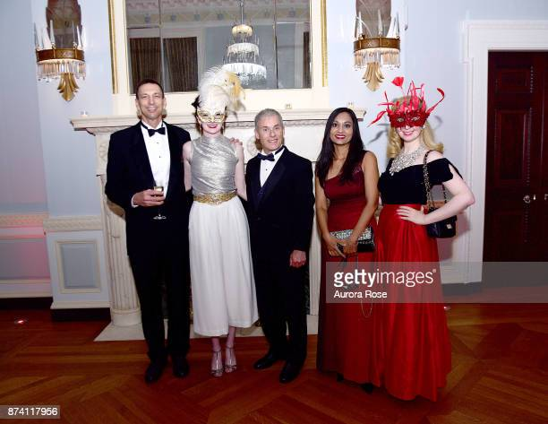 Ken Sherman Lily Basinet John Stone Aisha Jaleel and Amanda Pennfield attend Search and Care's Annual Yorkville Ball at Private Club on November 10...