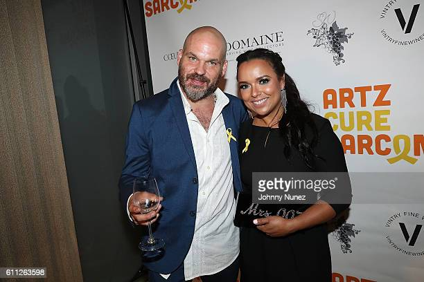 Ken Solomon and Zulema Arroyo attend 2nd Annual Artz Cure Sarcoma Benefit Auction at Corkbuzz Restaurant Wine Bar on September 28 2016 in New York...