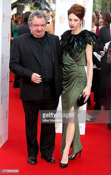 Ken Stott and Nina Gehl attend the House of Fraser British Academy Television Awards at Theatre Royal on May 10 2015 in London England