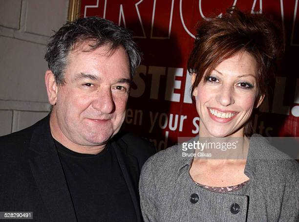 Ken Stott and Nina Gehl pose at God of Carnage on Broadway at The Bernard B Jacobs Theatre on November 17 2009 in New York City