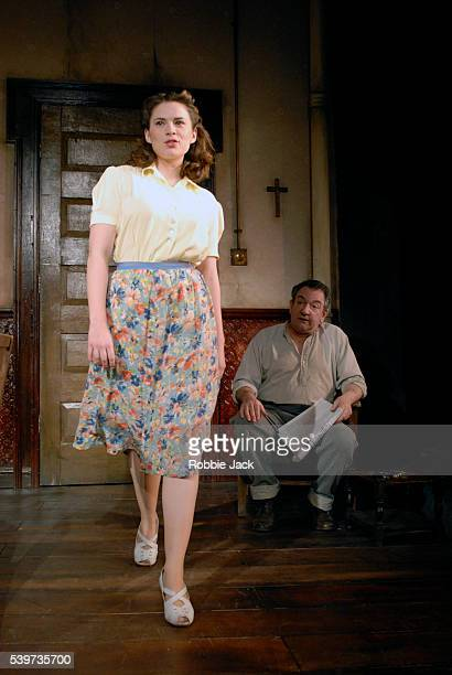 Ken Stott as Eddie and Hayley Atwell as Catherine in Arthur Miller's play A View From The Bridge directed by Lindsay Posner at the Duke of York's...