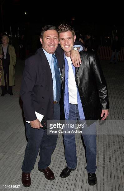 Ken Sutcliffe and his son Scott Sutcliffe arrive for the opening night of the Cirque du Soleil production of 'Alegria' under the Grand Chapiteau at...