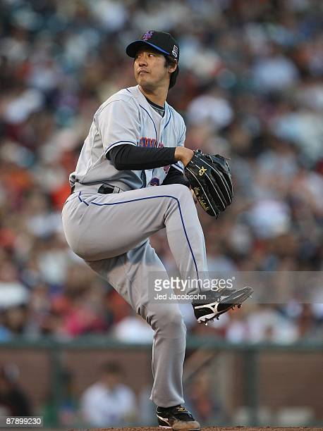Ken Takahashi of the New York Mets pitches against the San Francisco Giants during a Major League Baseball game on May17 2009 at ATT Park in San...