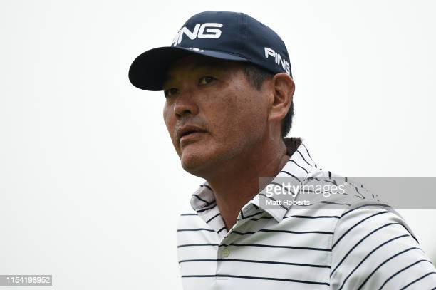 Ken Tanigawa of USA looks on prior to the first round of the Mastercard Japan Championship at Narita Golf Club on June 07 2019 in Narita Chiba Japan