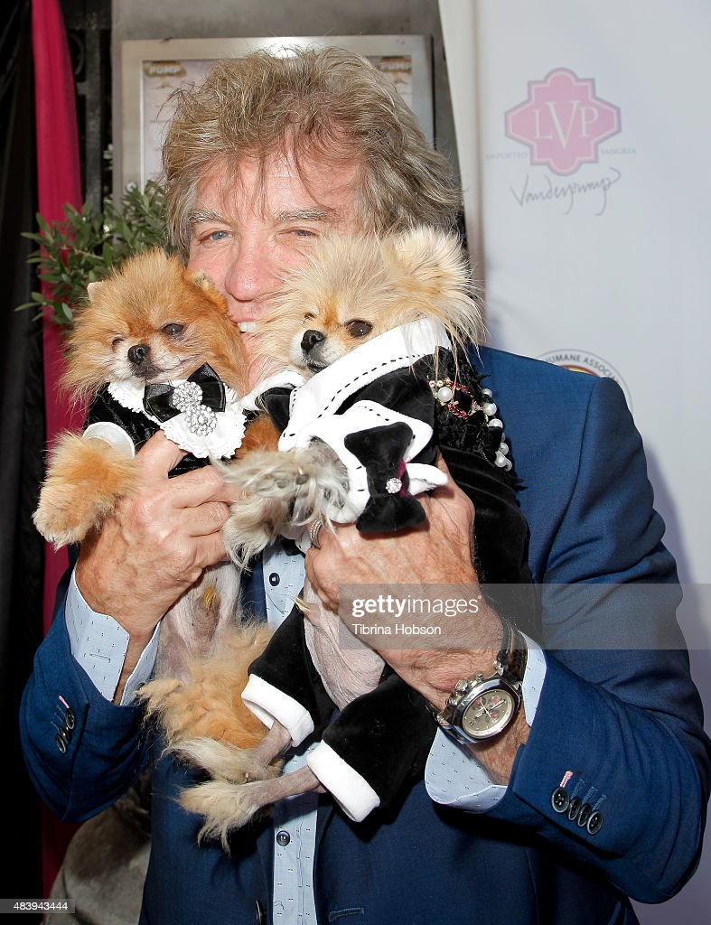 Ken Todd and dogs Giggy and Daddy attend Lisa Vanderpump's luncheon benefitting the American Humane Association and the Hero Dog Awards at Pump on August 13, 2015 in West Hollywood, California.