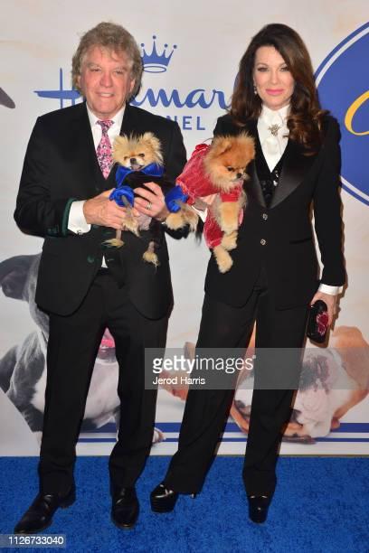 Ken Todd and Lisa Vanderpump attend the Hallmark Channel's 2019 American Rescue Dog Show at Pomona Fairplex on January 13 2019 in Pomona California