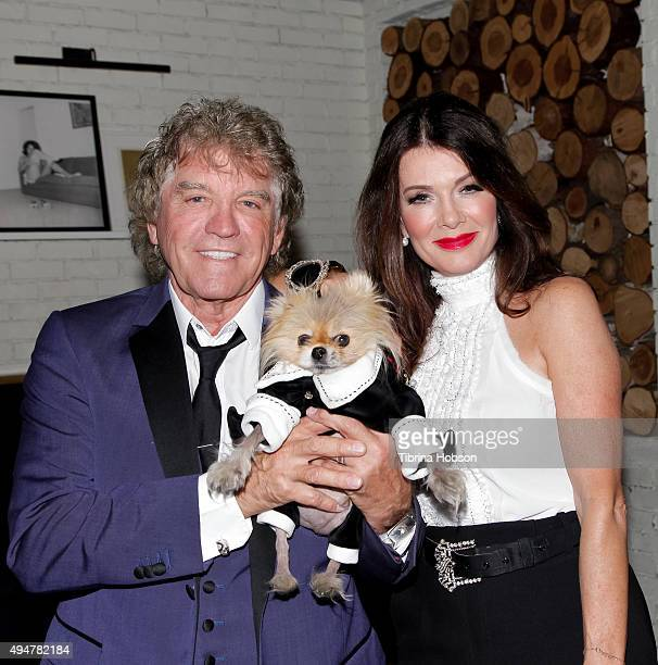 Ken Todd Lisa Vanderpump and their dog Giggy attend the 'Vanderpump Rules' premiere party at The Church Key on October 28 2015 in West Hollywood...