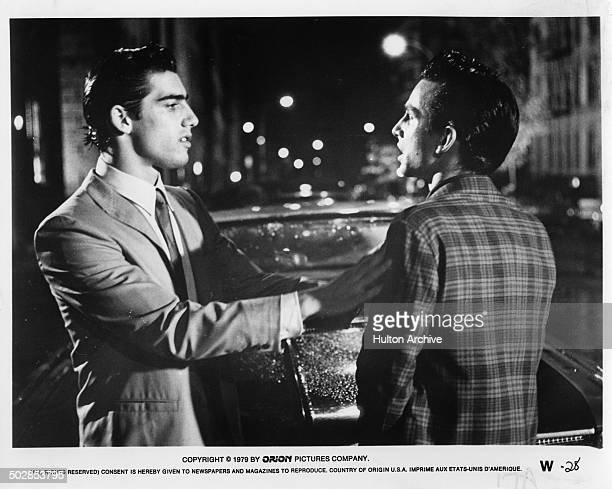 Ken Wahl confronts in a scene from the Orion movie The Wanderers circa 1979
