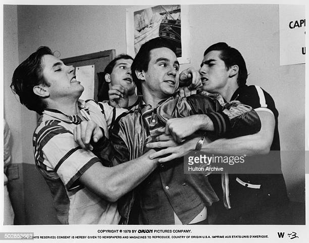 Ken Wahl fights in a scene from the Orion movie The Wanderers circa 1979