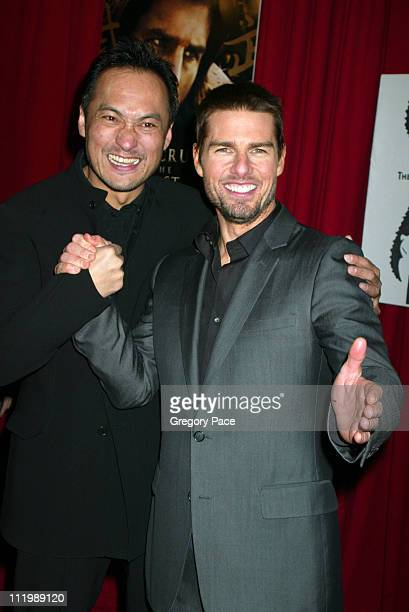 """Ken Wantanabe and Tom Cruise during """"The Last Samurai"""" New York Premiere - Inside Arrivals at The Ziegfeld Theater in New York City, New York, United..."""