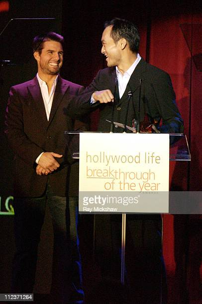 """Ken Watanabe accepting the Breakthrough of the Year Award for """"The Last Samurai"""""""