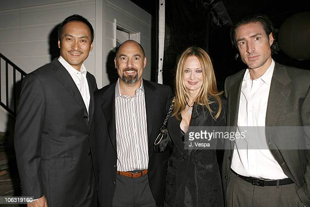 Ken Watanabe Adam Venit Trina Venit and guest during Endeavor 2006 PreOscar Party in Los Angeles California United States
