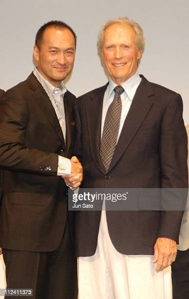 Ken Watanabe and Clint Eastwood during 'Flags of Our Fathers' and 'Letters from Iwo Jima' Tokyo Press Conference with Clint Eastwood and Ken Watanabe...
