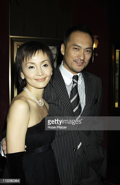 Ken Watanabe and his newly-married wife, Japanese actress Kaho Minami