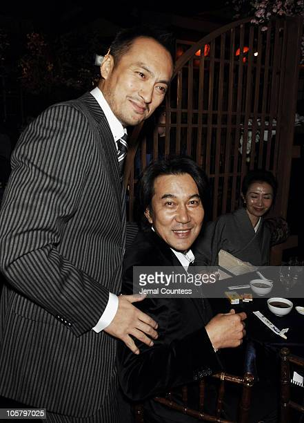 """Ken Watanabe and Koji Yakusho during """"Memoirs of a Geisha"""" New York City Premiere - After Party at Central Park Boathouse in New York City, New York,..."""