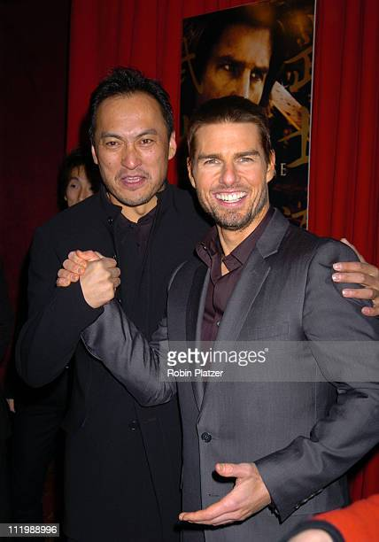Ken Watanabe and Tom Cruise during 'The Last Samurai' New York Premiere at The Zeigfeld Theater in New York City New York United States