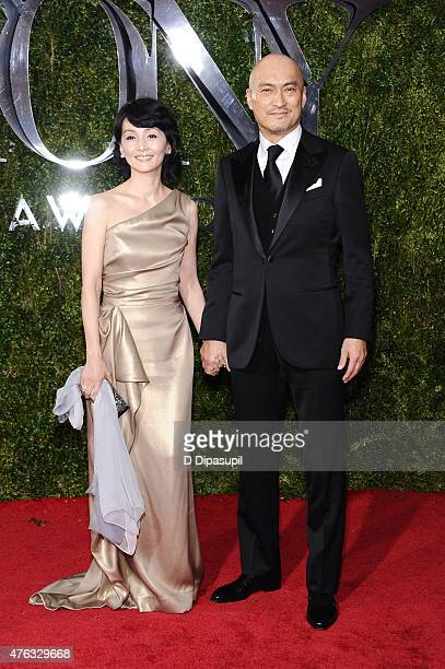 Ken Watanabe and wife Kaho Minami attend the American Theatre Wing's 69th Annual Tony Awards at Radio City Music Hall on June 7 2015 in New York City