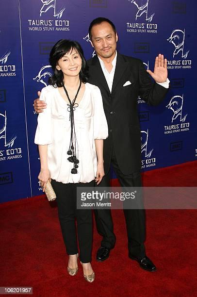 Ken Watanabe and wife Kaho Minami during 2007 Taurus World Stunt Awards Arrivals at Paramount Studios in Los Angeles California United States