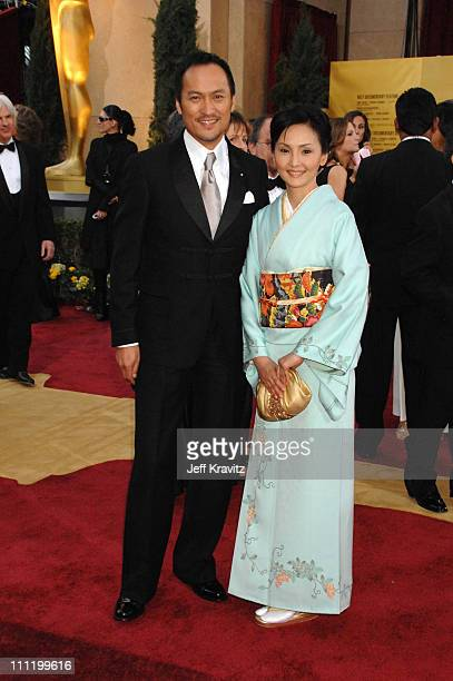 Ken Watanabe and wife Kaho Minami during The 79th Annual Academy Awards - Arrivals at Kodak Theatre in Hollywood, California, United States.