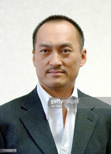 """Ken Watanabe during Ken Watanabe in """"Memories of Tomorrow"""" - Special Screening Presscall at Tosho Hall in Tokyo, Japan."""