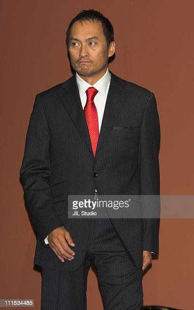 Ken Watanabe during 'Letters from Iwo Jima' Tokyo Press Conference at Grand Hyatt Tokyo in Tokyo Japan