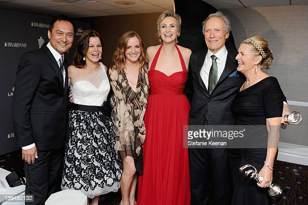 Ken Watanabe Marcia Gay Harden JL Pomeroy Jane Lynch Clint Eastwood and Deborah Hopper attend the 14th Annual Costume Designers Guild Awards With...