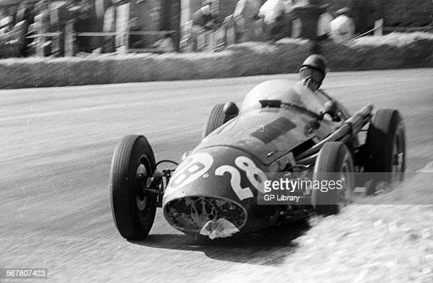 Ken Wharton in a Maserati 250F at the Spanish Grand Prix Pedralbes Spain 24 Oct 1954