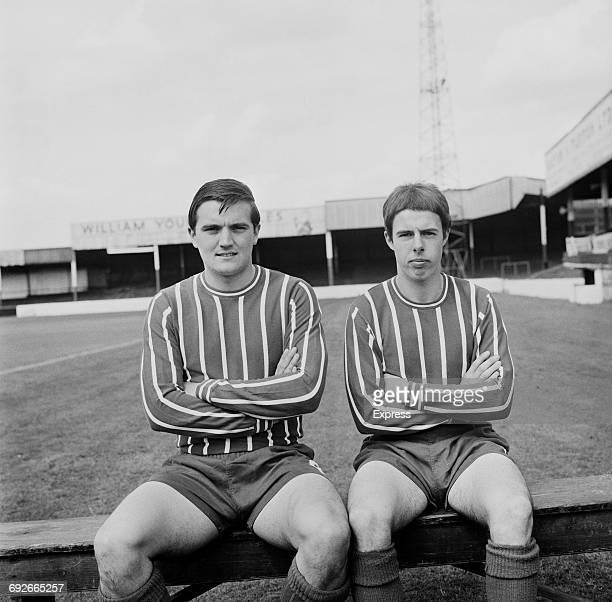 Ken Whittle and Jim Grummett Jr of Lincoln City FC UK 8th August 1966