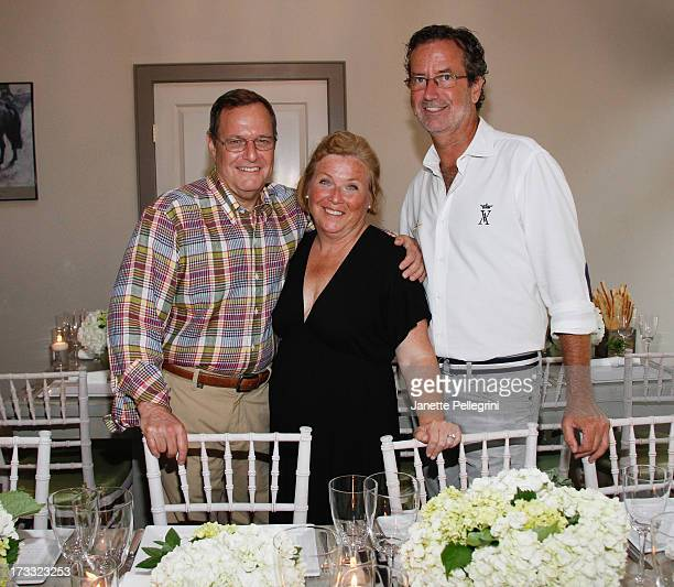 Ken Wolfe Claire Bean and Christopher Robbins attend Hamptons Magazine celebrates A Ladies Night Out Dinner hosted by Samantha Yanks with Robbins...