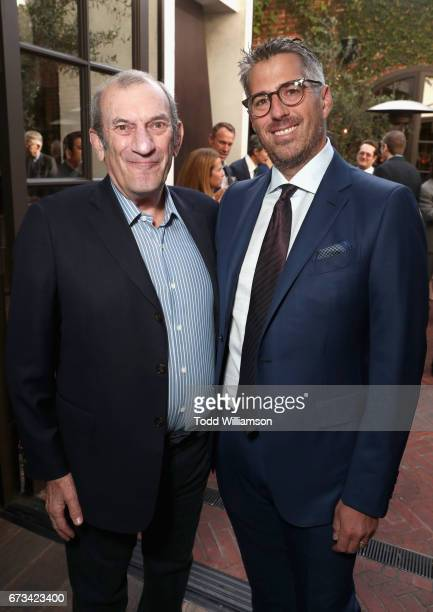 Ken Ziffren and Casey Wasserman attend The Hollywood Reporter Power Lawyers Breakfast 2017 at Spago on April 26 2017 in Beverly Hills California