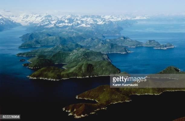 kenai fjords national park - kenai mountains stock pictures, royalty-free photos & images