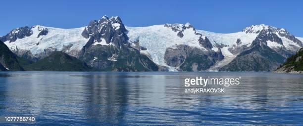 kenai peninsula glaciers, alaska - kenai mountains stock pictures, royalty-free photos & images