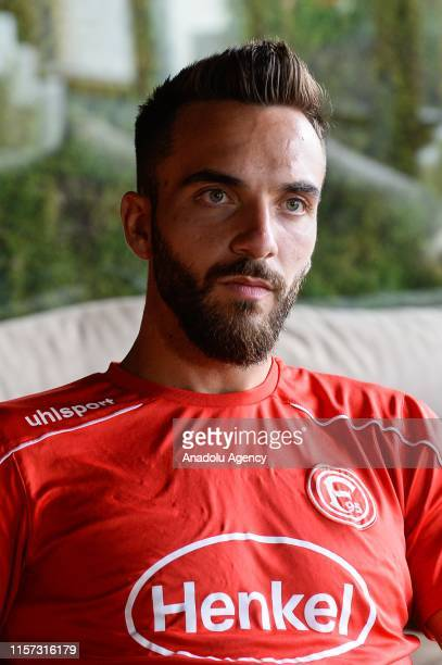 Kenan Karaman of Fortuna Dusseldorf speaks during an exclusive interview within the team's summer camp as part of the new season preparations in...