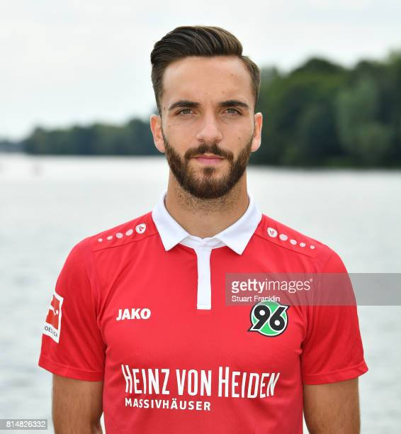 Kenan Karaman of Hannover 96 poses during the team presentation at on July 14 2017 in Hanover Germany