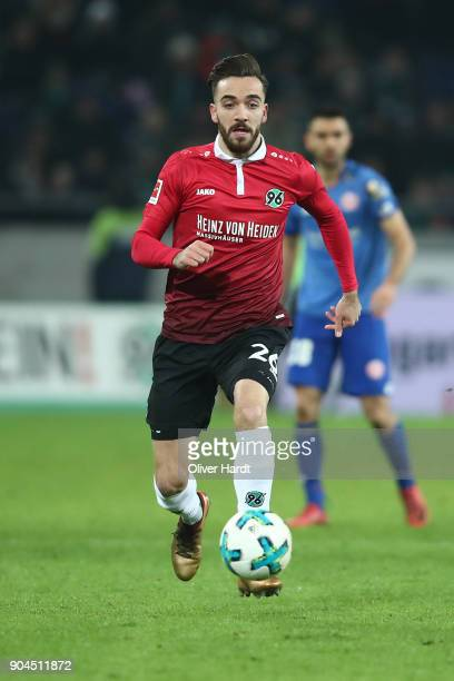 Kenan Karaman of Hannover in action during the Bundesliga match between Hannover 96 and 1 FSV Mainz 05 at HDIArena on January 13 2018 in Hanover...