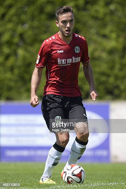 Kenan Karaman of Hanover controls the ball at Hannover 96 training camp on August 3 2014 in Mureck Austria