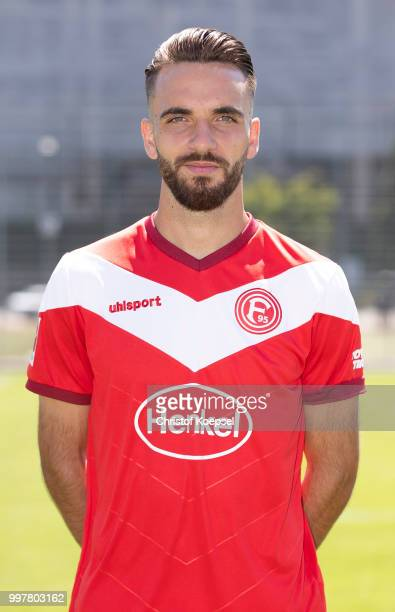 Kenan Karaman poses during the team presentation at Esprit Arena on July 13 2018 in Duesseldorf Germany