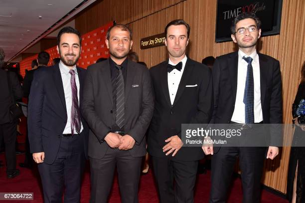 Kenan Rahmani Raed Saleh Michael Schererand Farooq attend the 2017 TIME 100 Gala at Jazz at Lincoln Center on April 25 2017 in New York City