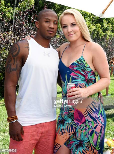 Kenan Smith and pro alpine ski racer Lindsey Vonn at the Red Bull Summer Edition Launch Party on June 17 2017 in Beverly Hills California