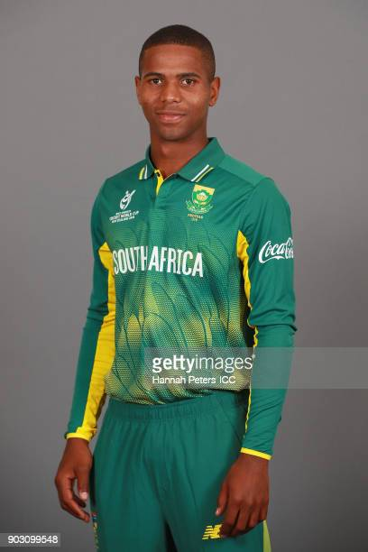 Kenan Smith poses during the South Africa ICC U19 Cricket World Cup Headshots Session at Rydges Christchurch on January 8 2018 in Christchurch New...