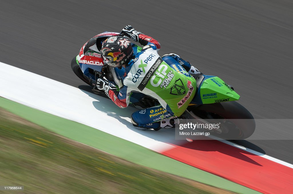 Kenan Sofoglu of Turkey and Technomag-cip rounds the bend during the free practice of the MotoGP of Italy at Mugello Circuit on July 2, 2011 in Scarperia near Florence, Italy.