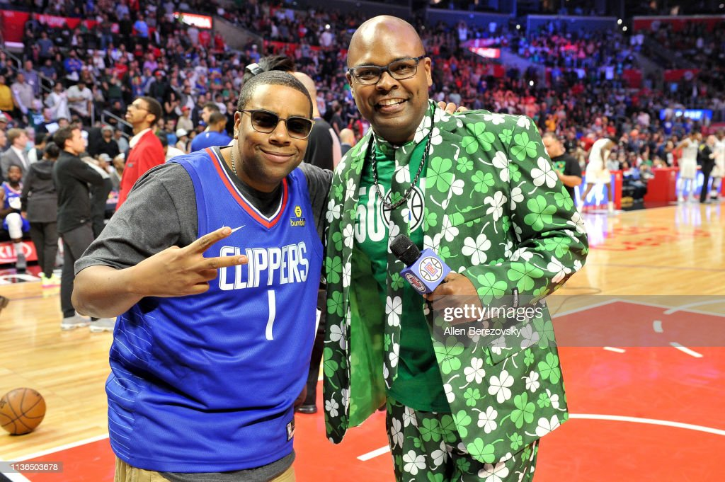 CA: Celebrities At The Los Angeles Clippers Game