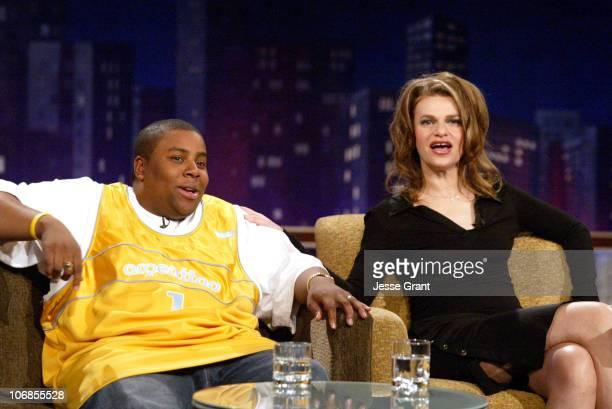 Kenan Thompson and Sandra Bernhard on the Jimmy Kimmel Live show on ABC Photo by Jesse Grant/WireImagecom/ABC