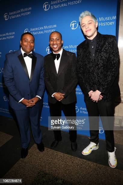 Kenan Thompson Chris Redd and Pete Davidson attend American Museum Of Natural History's 2018 Museum Gala at American Museum of Natural History on...