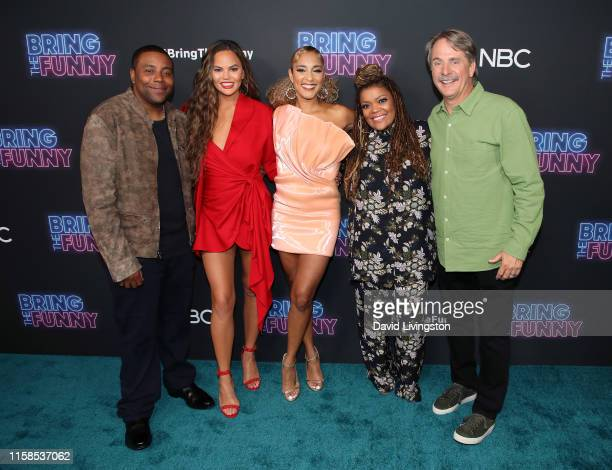 Kenan Thompson Chrissy Teigen Amanda Seales Yvette Nicole Brown and Jeff Foxworthy attend the premiere of NBC's Bring The Funny at Rockwell Table...