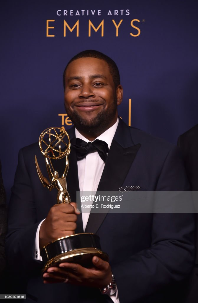 Kenan Thompson poses in the press room during the 2018 Creative Arts Emmys at Microsoft Theater on September 9, 2018 in Los Angeles, California.